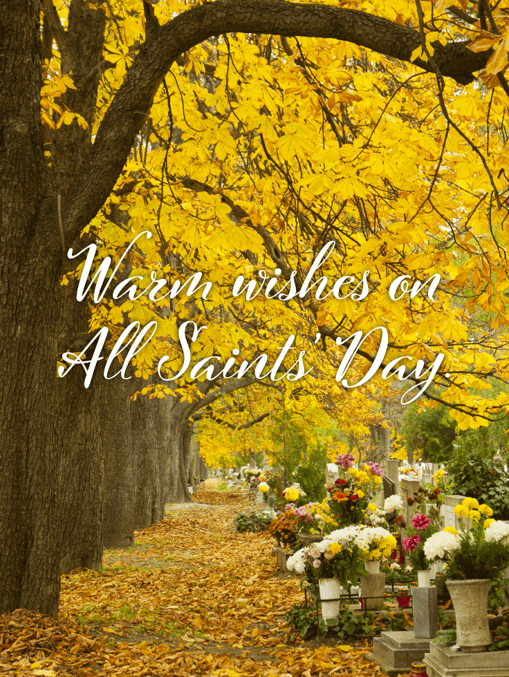 With Them in Spirit - All Saints' Day Card