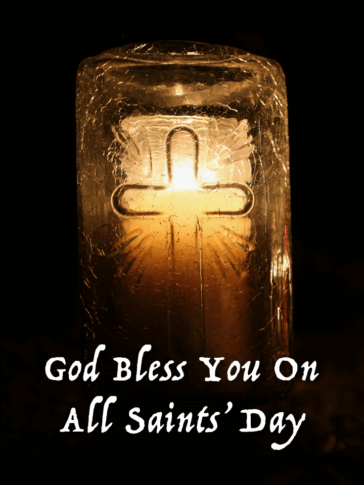 God Bless You - All Saints' Day Card