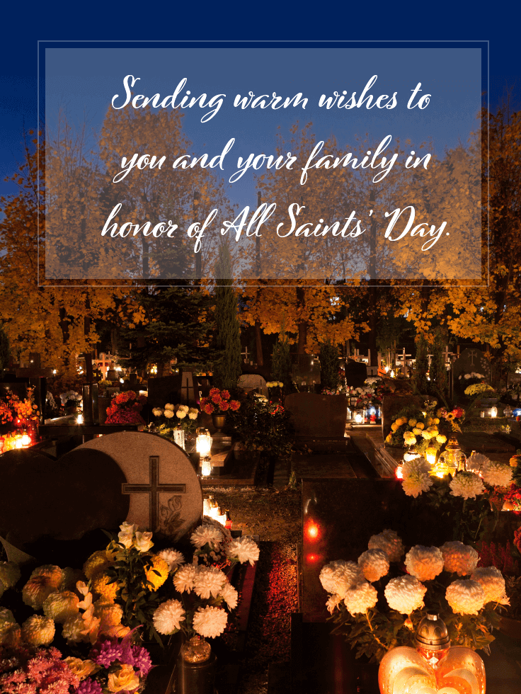 Warm Wishes and Blessings - All Saints' Day Card