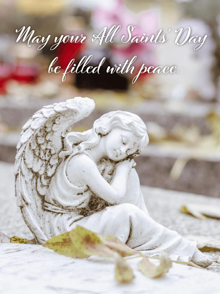 A Beautiful Sleeping Angel - All Saints' Day Card