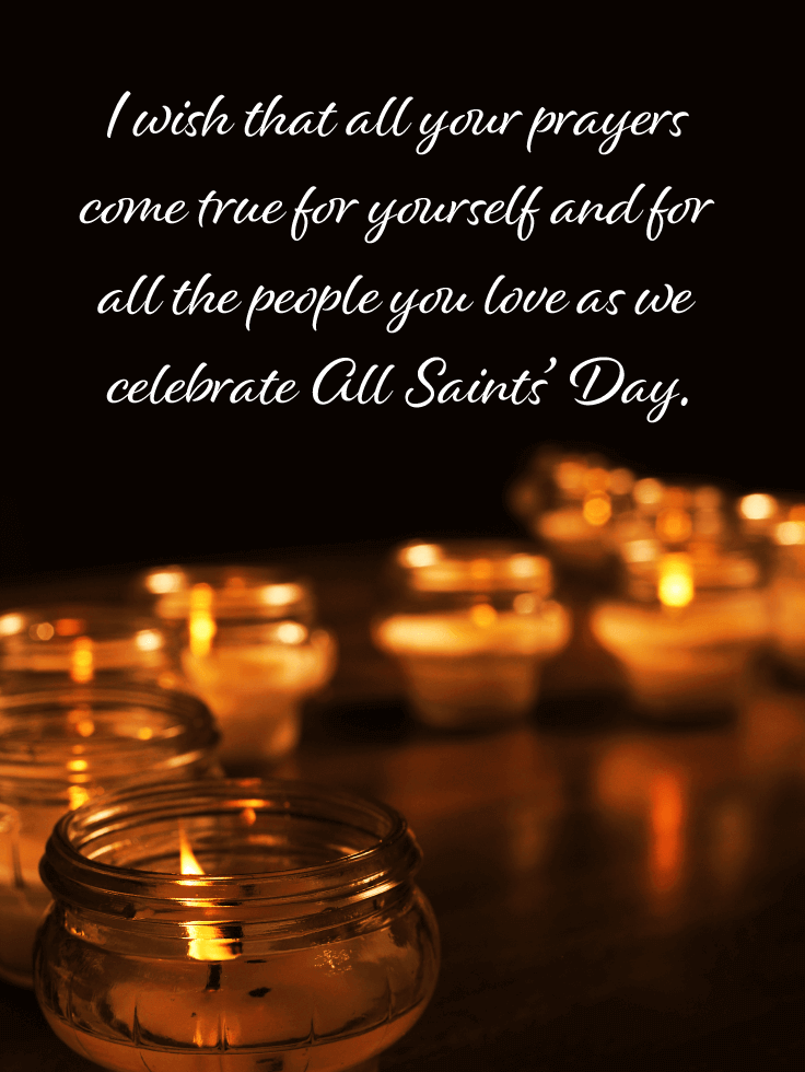 Thinking of them in heaven - All Saints' Day Card