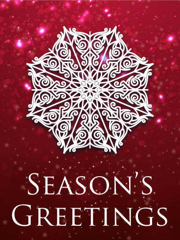 Snowflake Season's Greeting Card