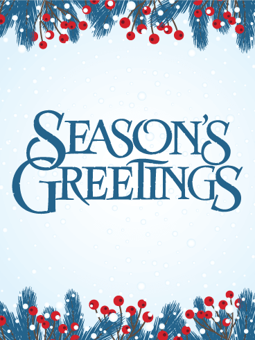 Its snow season seasons greetings card birthday greeting its snow season seasons greetings card m4hsunfo