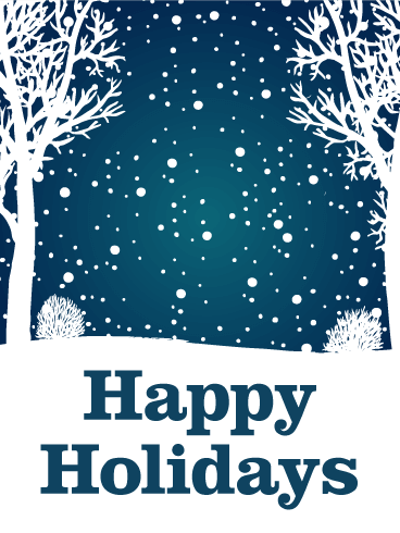 Let it Snow - Happy Holidays Card