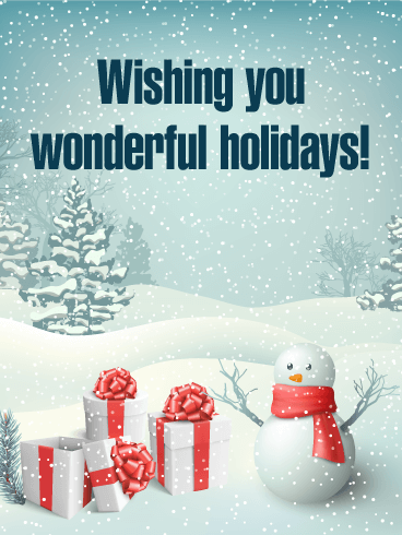 Have Wonderful Holidays! Season's Greetings Card