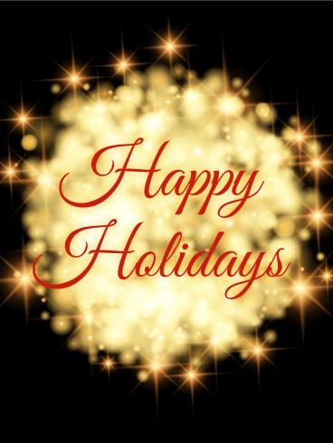 Shining lights happy holidays card birthday greeting cards by davia shining lights happy holidays card m4hsunfo