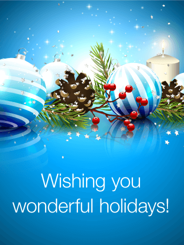 Wish You Have Happy Holidays - Season's Greetings Card
