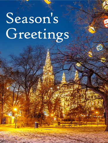 Gorgeous Winter Town - Season's Greeting Card