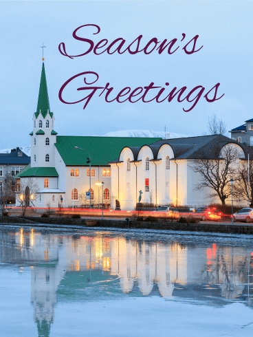 Beautiful Winter Lake - Season's Greetings Card
