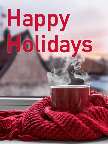 Cold Winter Morning - Happy Holidays Card