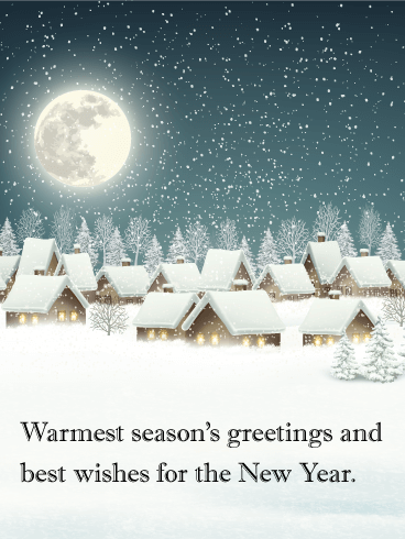Quiet Winter Night - Season's Greetings Card