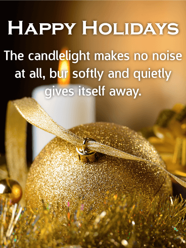 Quiet Holiday Night - Happy Holidays Card