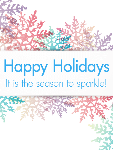 Colorful Snowflake Happy Holidays Card