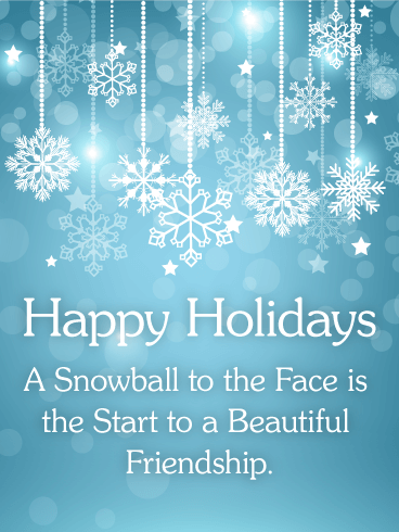 Shining Snowflake Happy Holidays Card