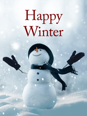 Happy Snowman Winter Card