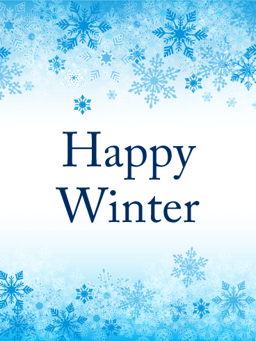 Blue Snowflake Winter Card