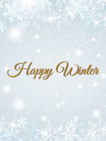 White Snowflake Winter Card