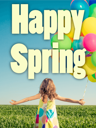 Happy Girl Spring Card