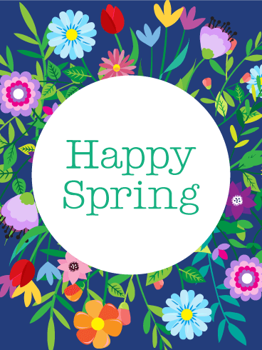 Colorful Flower Spring Card