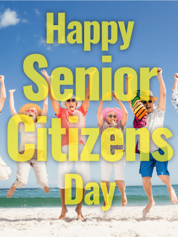 Let's Have Fun! Happy Senior Citizens Day Card