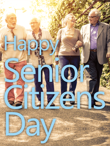 We Have Fun Together! Happy Senior Citizens Day Card