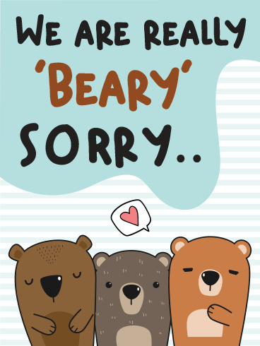 Beary Sorry – I'm Sorry Cards