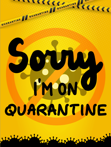 Quarantine Apology – I'm Sorry Cards