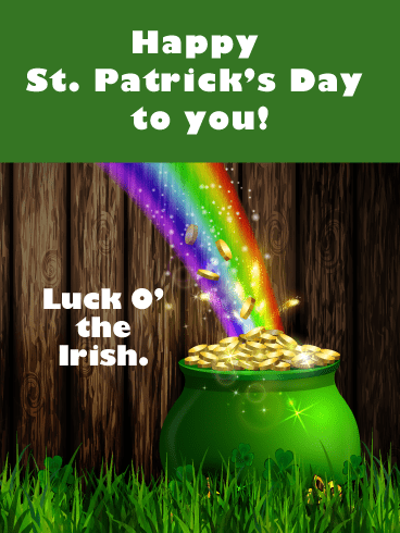 Pot Of Gold - Happy St. Patrick's Day Card