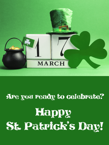Mark Your Calendar - Happy St. Patrick's Day Card