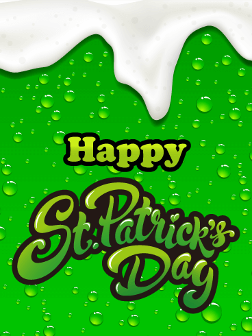 Bright Green Beer Happy St. Patrick's Day Card