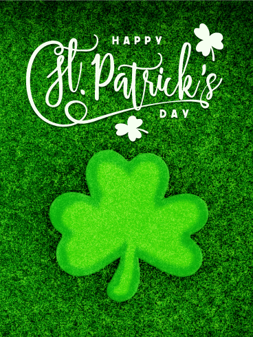 Green Shamrock Happy St. Patrick's Day Card
