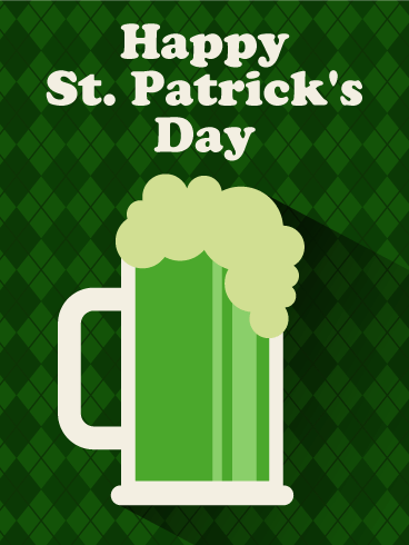 Cheers! Green Beer Happy St. Patrick's Day Card