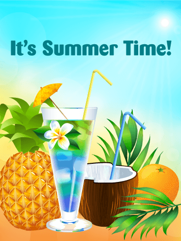 Summer Day Cocktail Card