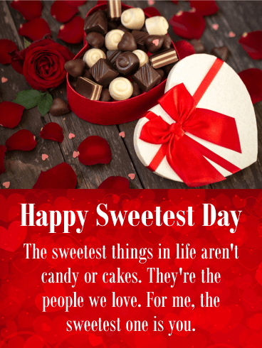 You are the One! Happy Sweetest Day Card