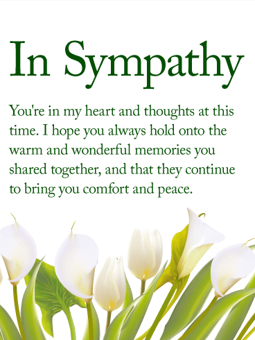 You are in my Heart - Sympathy Card