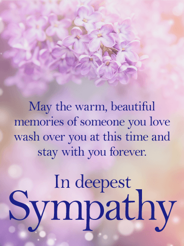 stay with you forever sympathy card - Deepest Sympathy Card