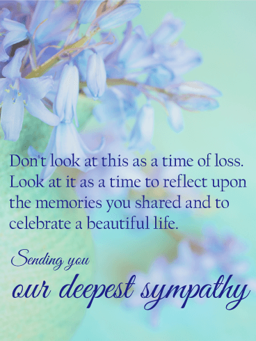 To Celebrate a Beautiful Life - Sympathy Card