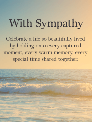 Peaceful Sympathy Card