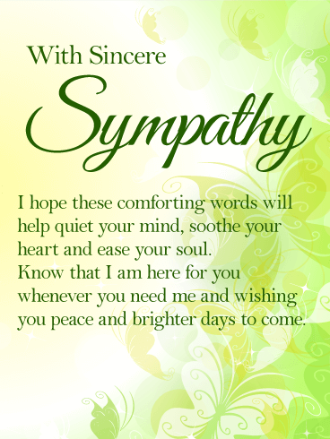 I am Here for You - Sympathy Card