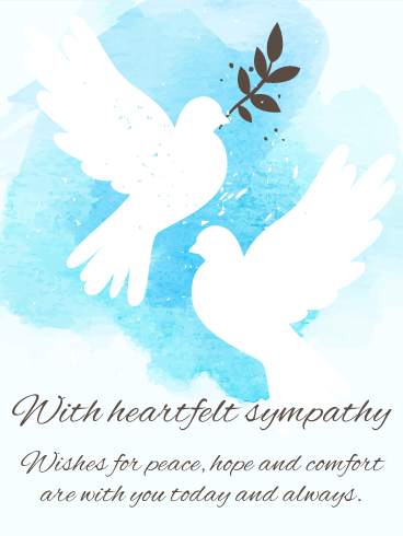 For Peaceful Days - Sympathy Card