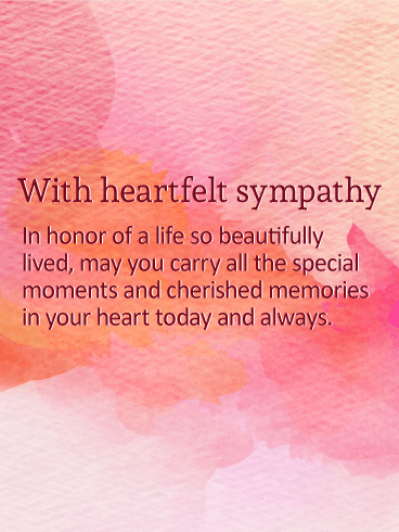 Celebrate Beautiful Life - Sympathy Card