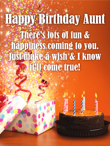 Happy Birthday Card For Aunt