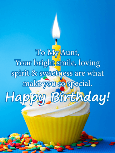 Your Bright Smile - Happy Birthday Card for Aunt