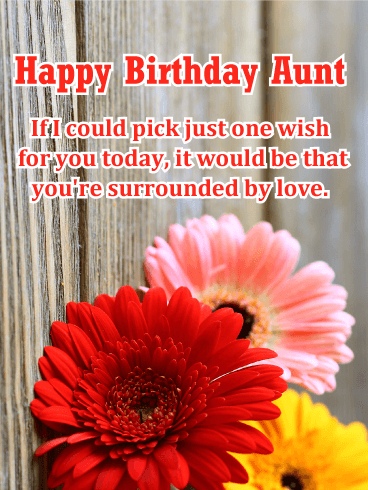 Surrounded by Love - Happy Birthday Card for Aunt
