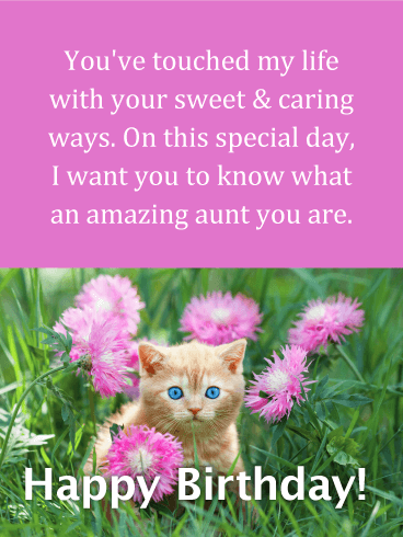 You've Touched my Life - Happy Birthday Card for Aunt