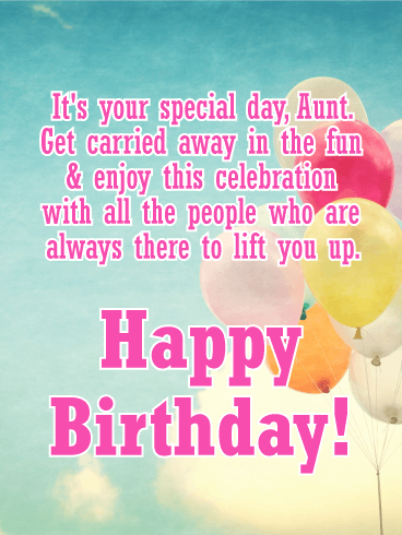 It's Your Special Day! Happy Birthday Card for Aunt