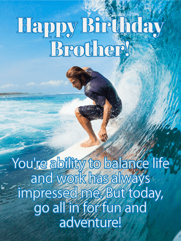 Go All in for Fun! Happy Birthday Card for Brother