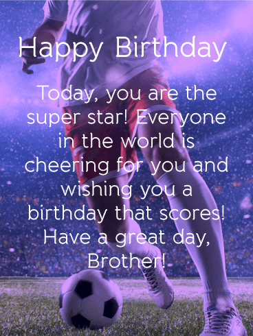 To the Super Star - Happy Birthday Card for Brother