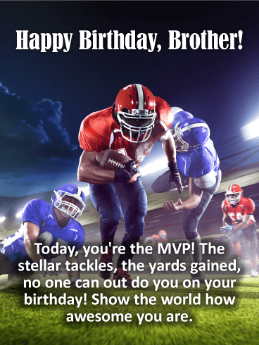 You're the MVP! Happy Birthday Card for Brother