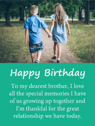 Special Memories - Happy Birthday Card for Brother